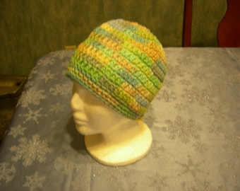 """Crochet """"seagrass"""" beanie for youth or adult"""