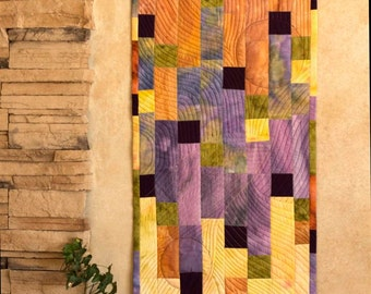 Art quilt - Shades of yellow