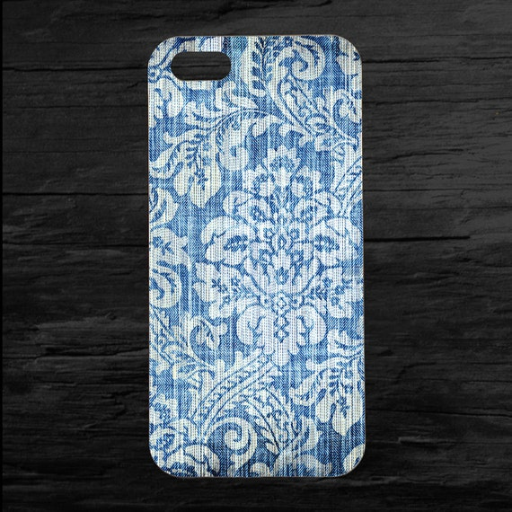 Blue Distressed Wallpaper iPhone 4 and 5 Case - theminifab