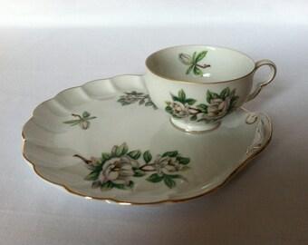 Evergreen Porcelain Snack Tray Sets