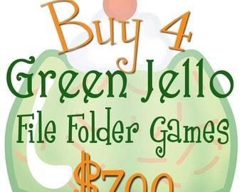 BUY 4 File Folder Games - Downloadable PDF Only