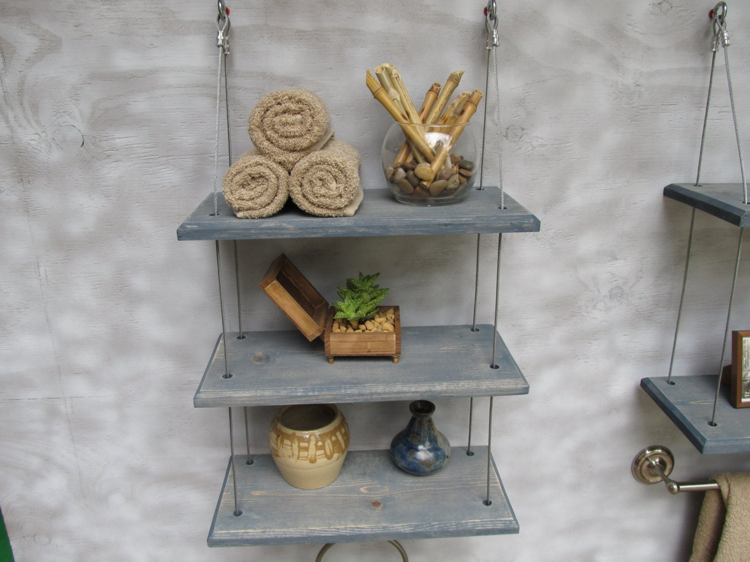 Decorative Wall Shelves For Bathroom : Bathroom shelves floating industrial