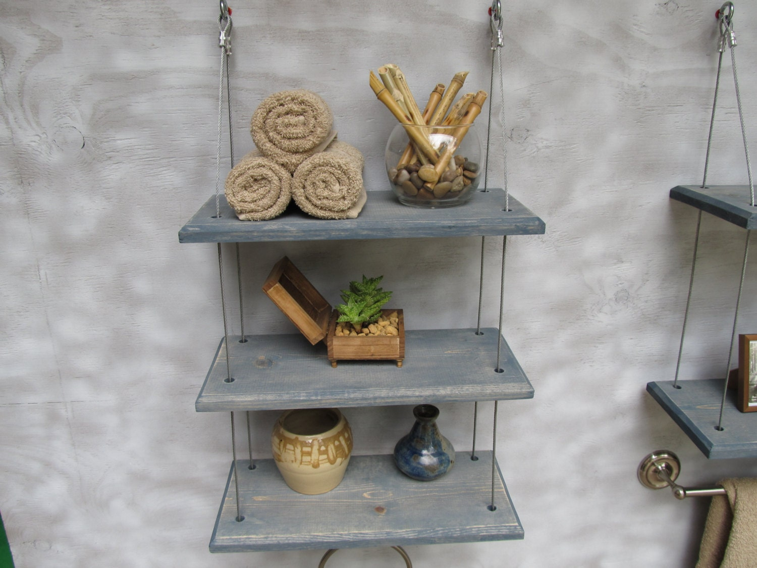 Floating Shelves Bathroom Decor : Bathroom shelves floating industrial