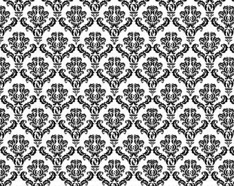 Black Damask Landscape 8 x 10 Edible Image Frosting Sheet