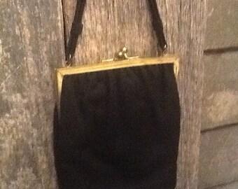 1940's-50's Black Evening Bag
