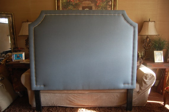 Queen Or Full Curved Corner Upholstered By Threestrandsdesigns