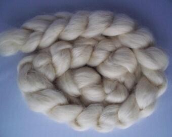 Teeswater Spinning Fiber Roving Top, 100g / 3.5oz, British Wool