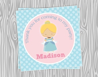 DIY - Cinderella Inspired Birthday Favor Tags- Coordinating Items Available