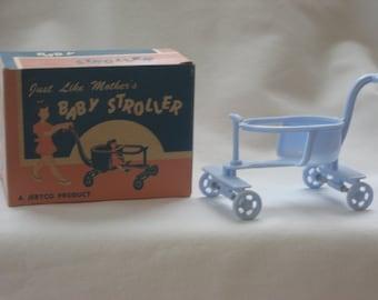 CIJ  Vintage Dollhouse Jeryco Baby Stoller in Original Box