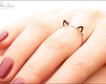 """Sterling Silver """"Kitty Ears"""" Ring"""