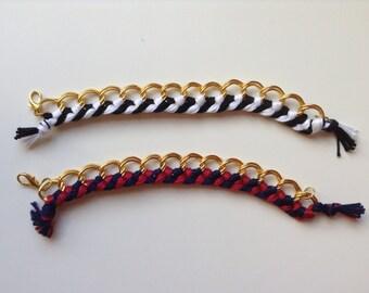 Yarn Cotton Bracelet - Golden Chain