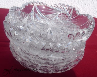 Rare vintage crystal plates- crystal- serving- collectable- collectors- 1940s
