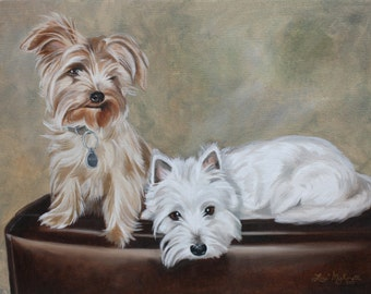 Custom Pet Portraits Original Oil Paintings by Lori Perrine-Miglioretti 12x16