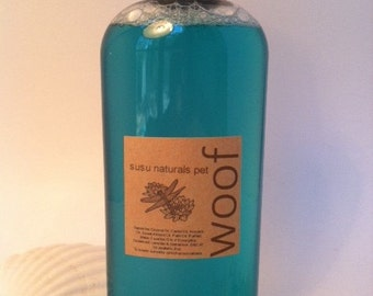 WOOF All-natural Eucalyptus Pet Shampoo 8 oz.