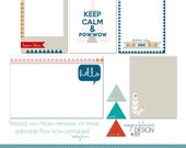 2013 Project Life Printable Journaling Cards Pow Wow Theme
