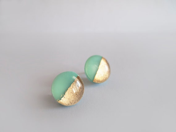 Pretty Things - Mint & Golden Earrings