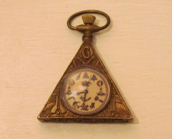 Pocketwatch Free Masons on Etsy Stylishinteriors