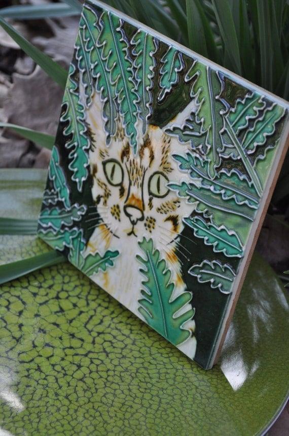 Hand Painted Benaya Art Co Ceramic Tile By
