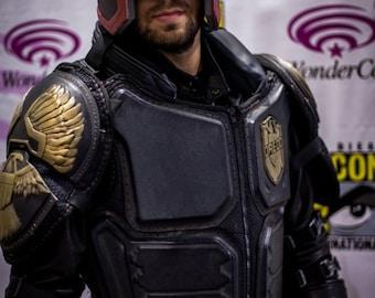 DREDD Vest armor kit (raw) cold cast brass