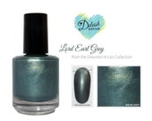 Lord Earl Grey Nail Polish -  grey, green smooth finish - 5ml Mini Sized Bottle