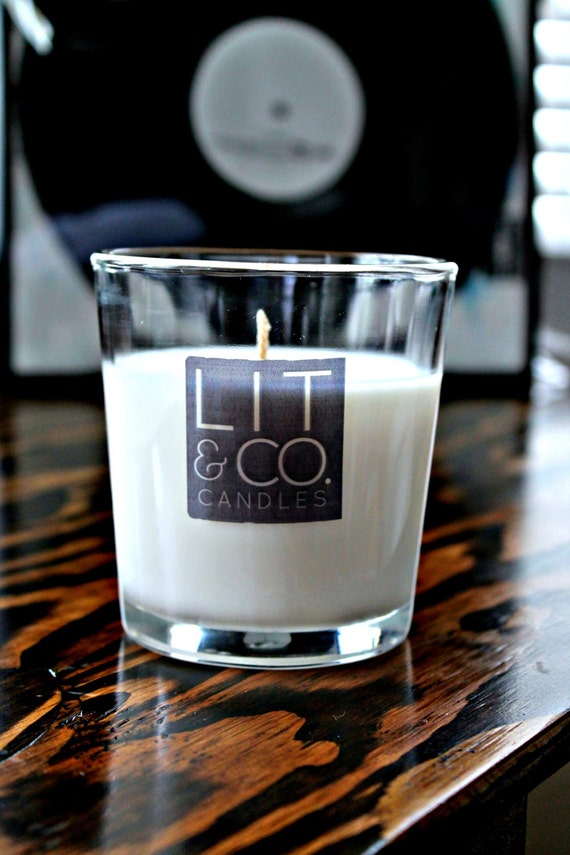 Pine Cone Natural Soy Candle in Glass Tumbler 8oz Candle  Fall Candle