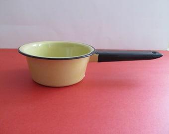 Enamelware Pan, Enamelware, Pots and Pans, Vintage Pots and Pans,Vintage Enamelware, Yellow Enamelware