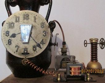 Steampunk Pet Ash Urn.