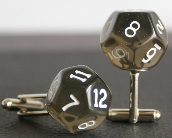 black 12 sided dice