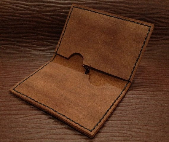 Leather Card Case Simple Wallet for Men Business by