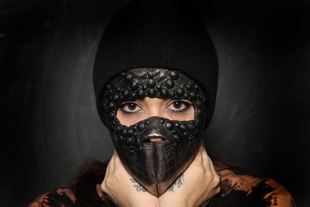 leather mask blowjob