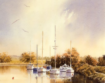 The River Frome watercolour painting