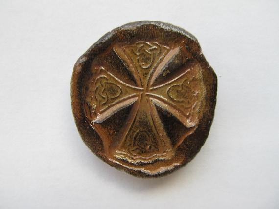 cross celtic meditation prayer ceramic piece for pocket or. Black Bedroom Furniture Sets. Home Design Ideas
