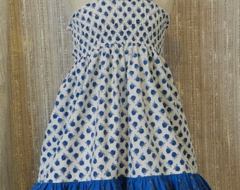 OOAK girls 4/6 sundress from upcycled/recycled/repurposed clothing