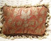 Fortuny Designer Pillow Cushion Vintage Handmade Persepolis Pattern