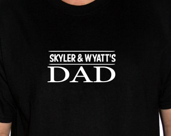 Custom Dad t shirt personalized with kids names