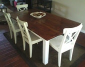 Rustic Country dining table for 6