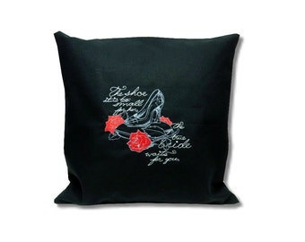 Dark Fairytale Cushion  Cinderella