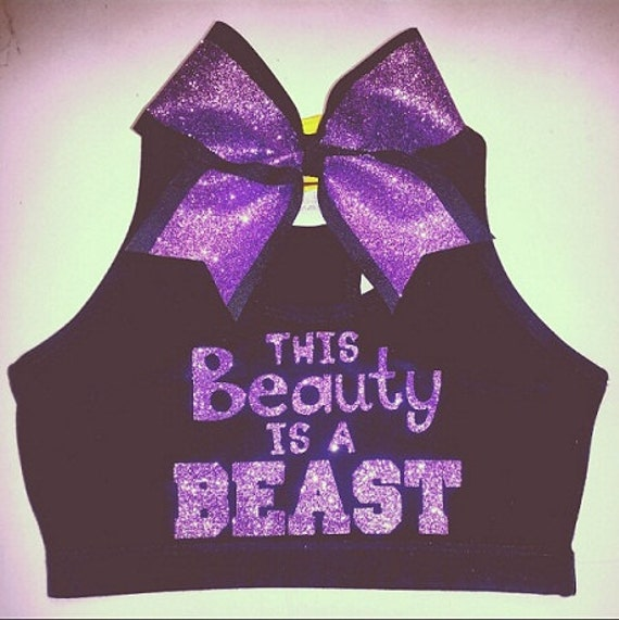 items similar to this beauty is a beast sports bra with