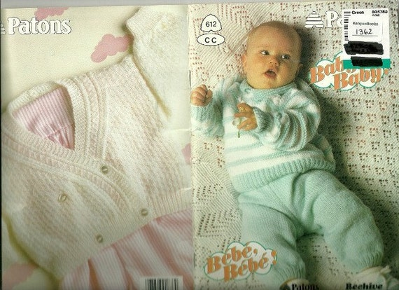 BABY BABY Baby Knitting Patterns Patons Beehive by KenyonBooks