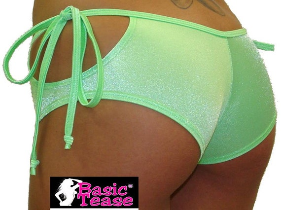 Stripper Loop Tie Side Shorts for Exotic Dancers, Thong Bikini Cover Up, or Pole Fitness Class