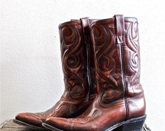 Acme cowboy boots   Etsy