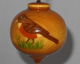 Personalized Robin Redbreast Ornament, Christmas Tree Decoration, American Robin Ornament, PWB-48