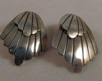 Vintage sterling silver post earrings