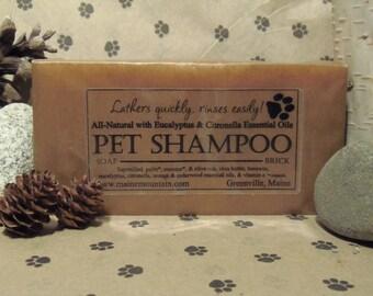 18oz Brick of All Natural Pet Shampoo Bar Soap