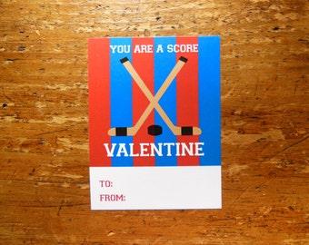 Hockey Valentine Blue