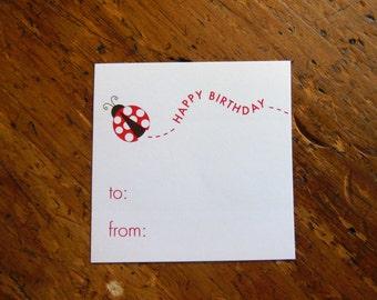 Ladybug Gift Stickers