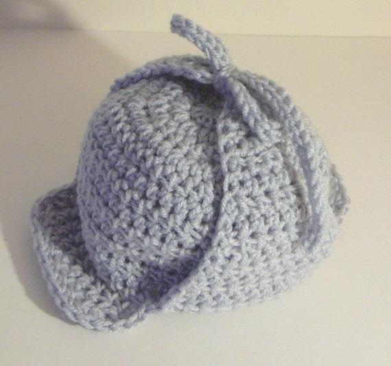 Crochet Deerstalker Hat Pattern : Deerstalker Sherlock Holmes Hat PDF Crochet Pattern ...