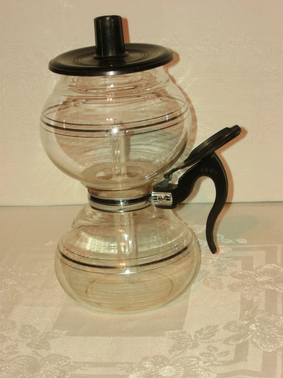 Vacuum Coffee Maker Glass Filter : Vintage Cory DCL DCU Glass Vacuum Coffee Maker Pot by AuntiesCabin