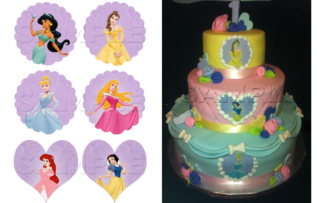 Disney Cake Decorations Princess : Disney Princess Edible Cake Decoration by ItsEdible on Etsy