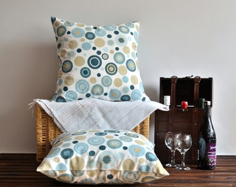 Polka Dot Linen Pillow Cover - 20x20 inches - Colorful Dots Cushion Cover - Indoor Otdoor Decor